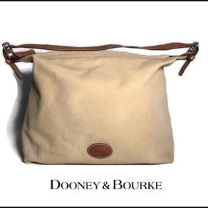 Dooney & Bourke Canvas And Leather Tote